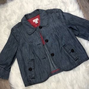 LOFT Jean Jacket with Peter Pan Collar